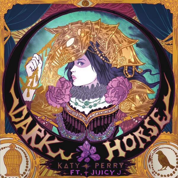 Обложка сингла Кэти Перри -  Dark Horse