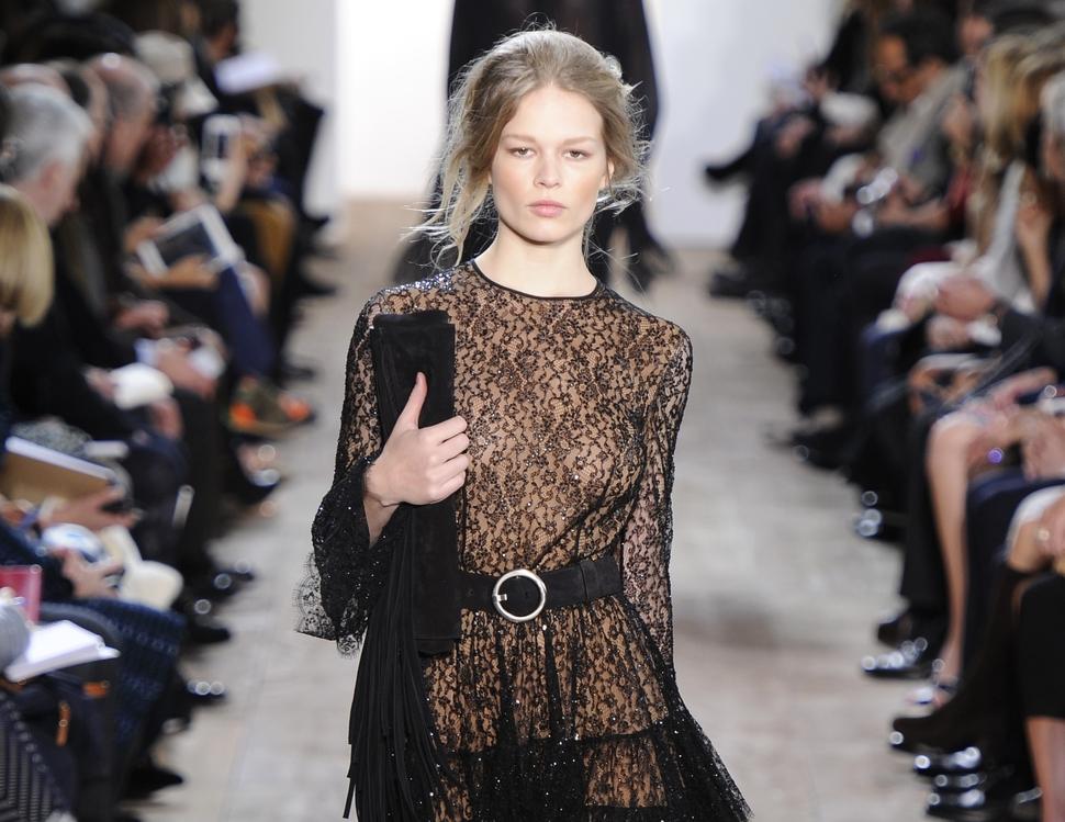 Модный показ новой коллекции Michael Kors. Осень / зима 2014