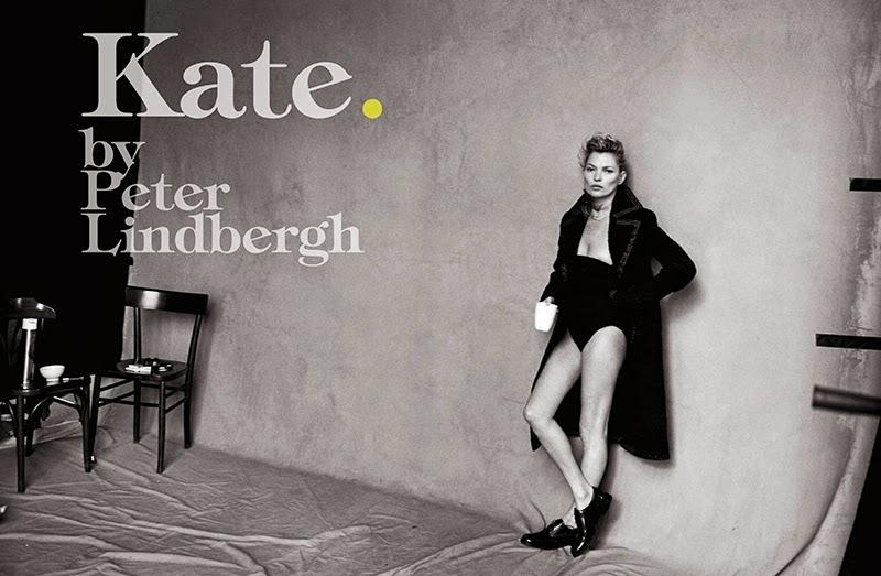 Кейт Мосс без фотошопа в журнале Vogue Италия. Январь 2015