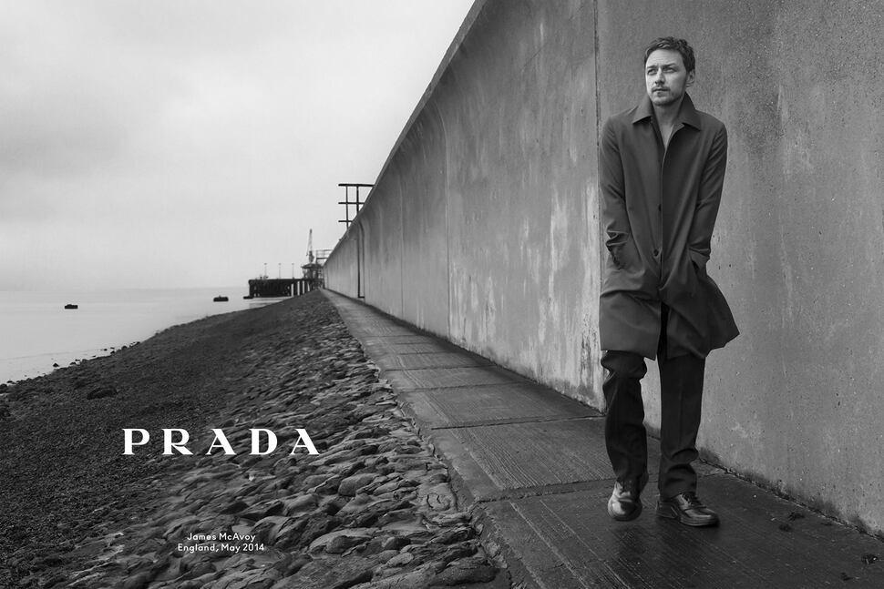 Джеймс МакЭвой в рекламной кампании  Prada. Осень-зима 2014