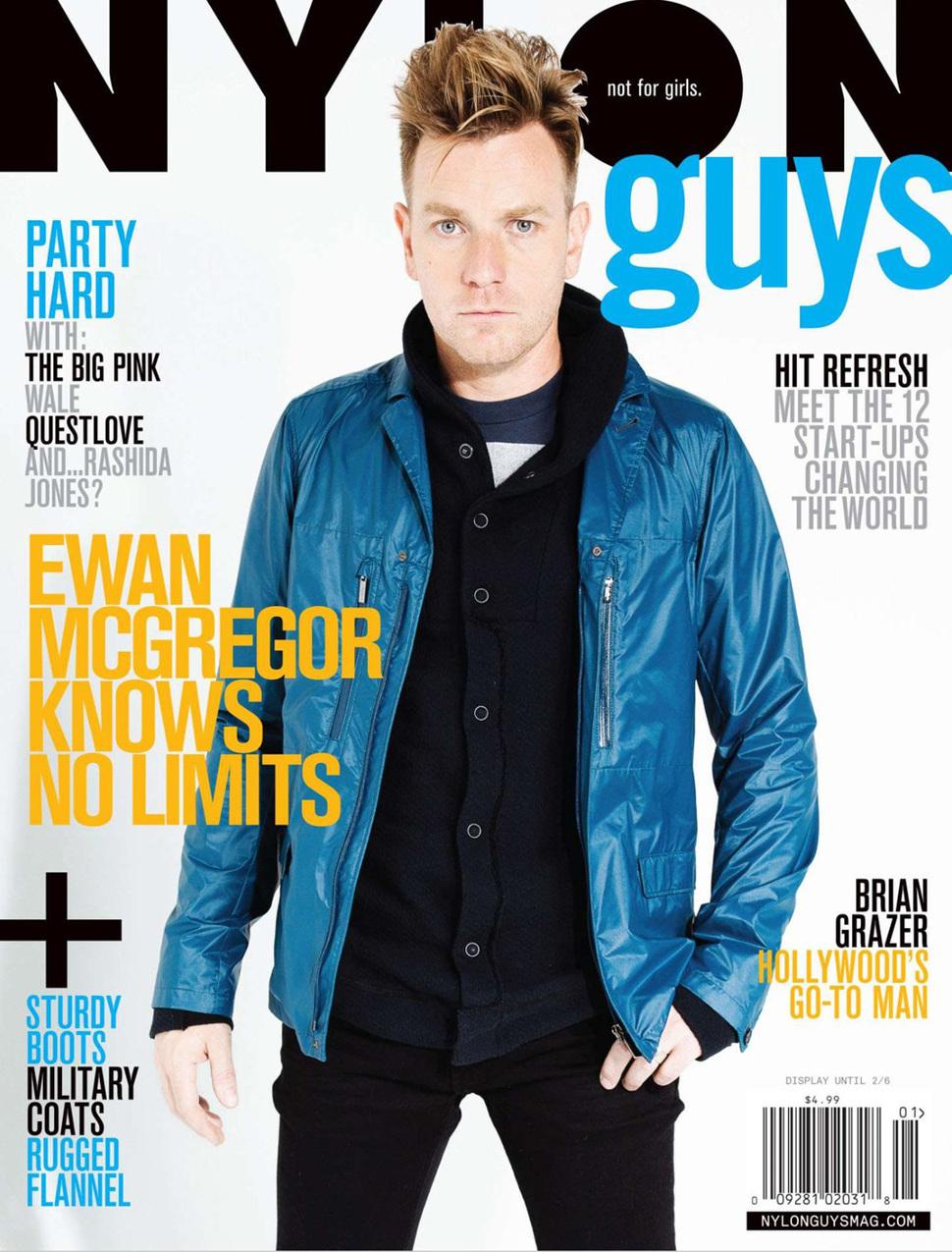 Юэн МакГрегор в журнале Nylon Guys. Январь 2012
