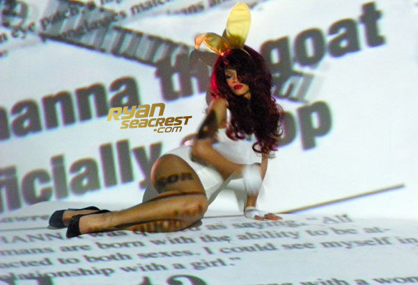 Рианна на съемках своего нового клипа