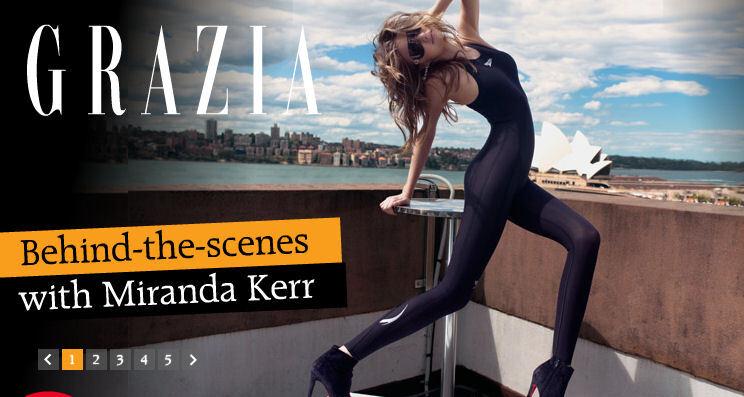Миранда Керр для журнала Grazia