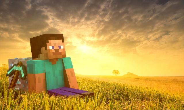 Игра «Minecraft» перебирается на большие экраны