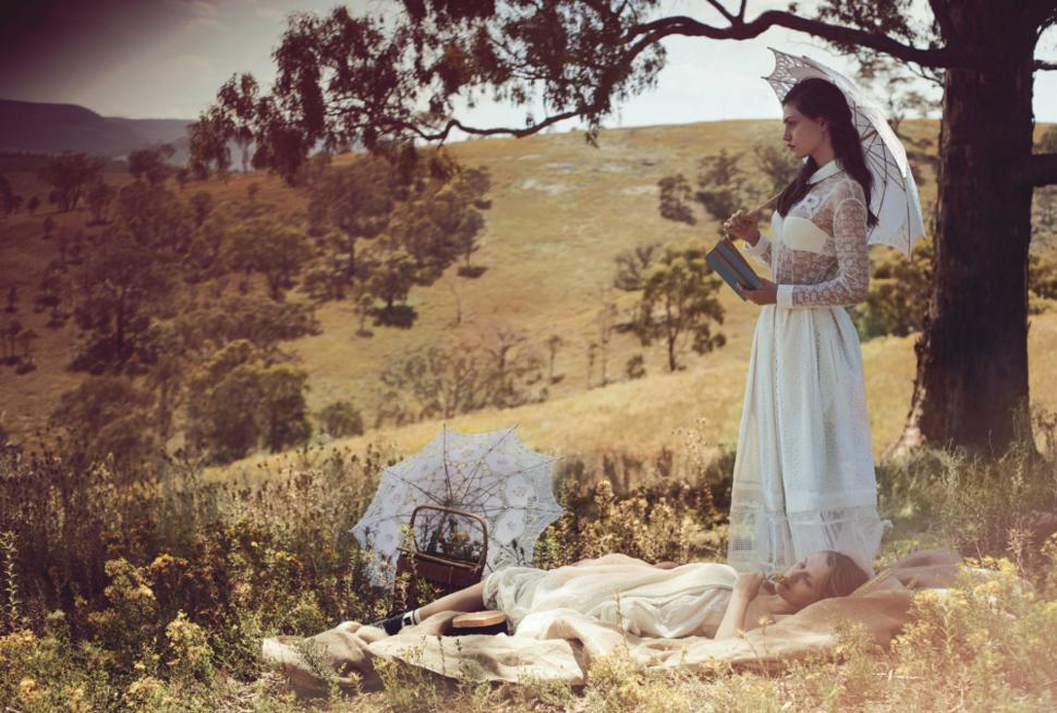 Фиби Тонкин и Тереза Палмер в журнале  Vogue Австралия. Март 2015