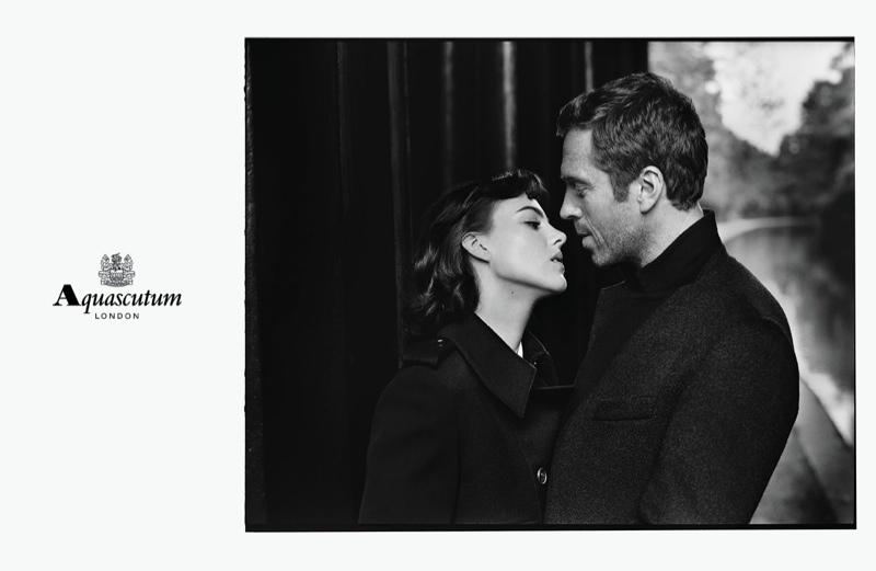 Рекламная кампания Aquascutum Осень – Зима 2015 с Элизой Камингс