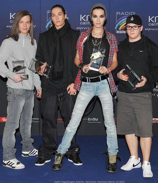 Tokio Hotel на на церемонии награждения Radio Regenbogen Awards