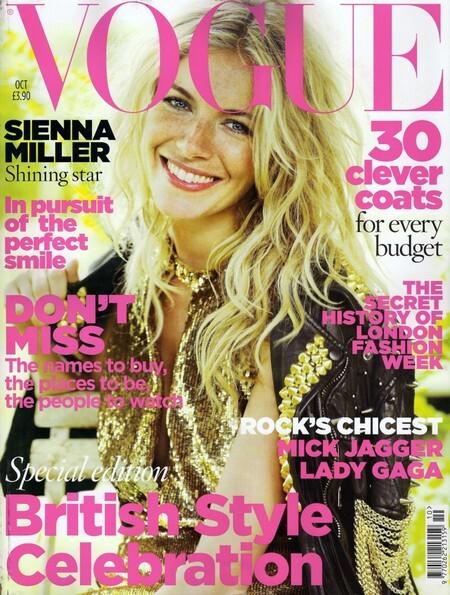 Сиенна Миллер в журнале Vogue. Октябрь 2009