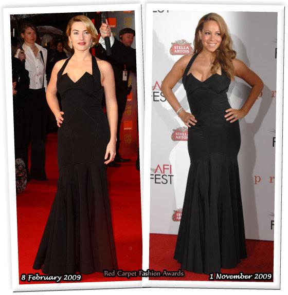 Fashion battle: Кейт Уинслет и Мэрайя Кери