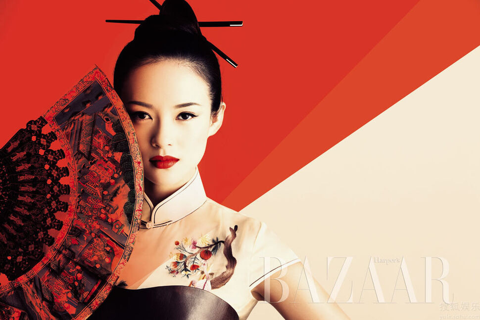 Чжан Цзыи в журнале Harpers Bazaar. China. Октябрь 2009