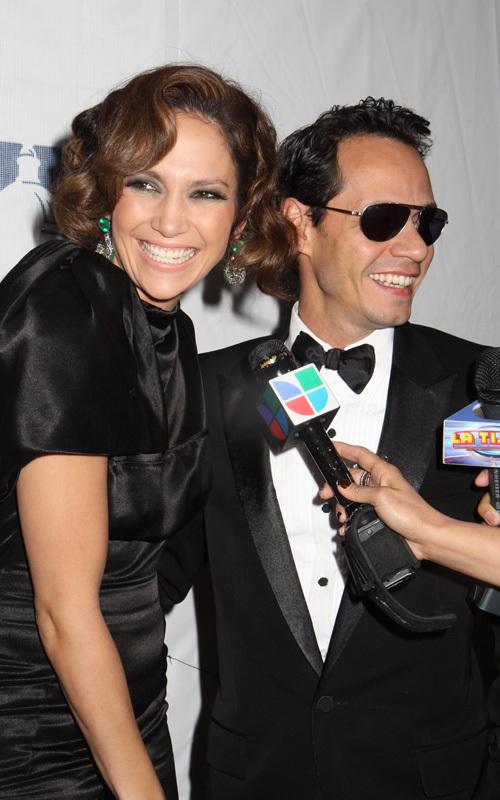 Дженнифер Лопес и Марк Энтони на вечере CHCI Awards