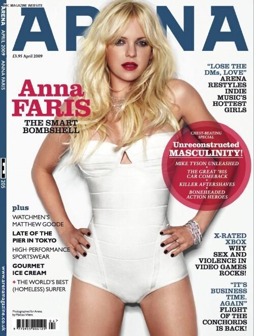 Анна Фэрис в журнале Arena. Апрель 2009