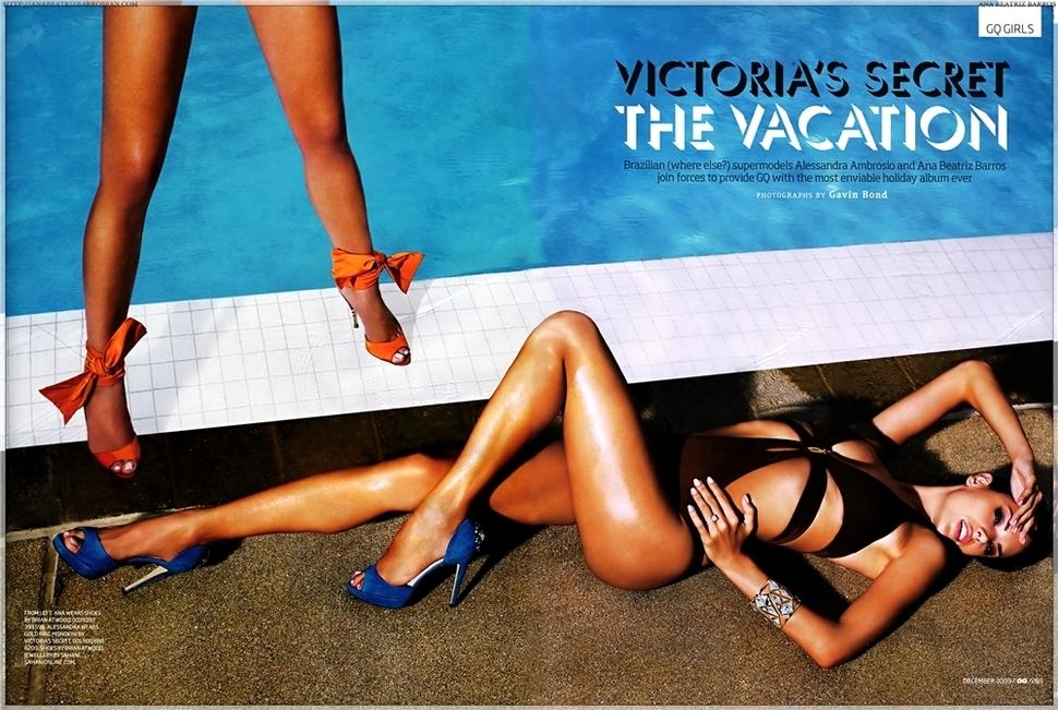 Два ангела Victoria`s Secret в журнале GQ. Декабрь 2009