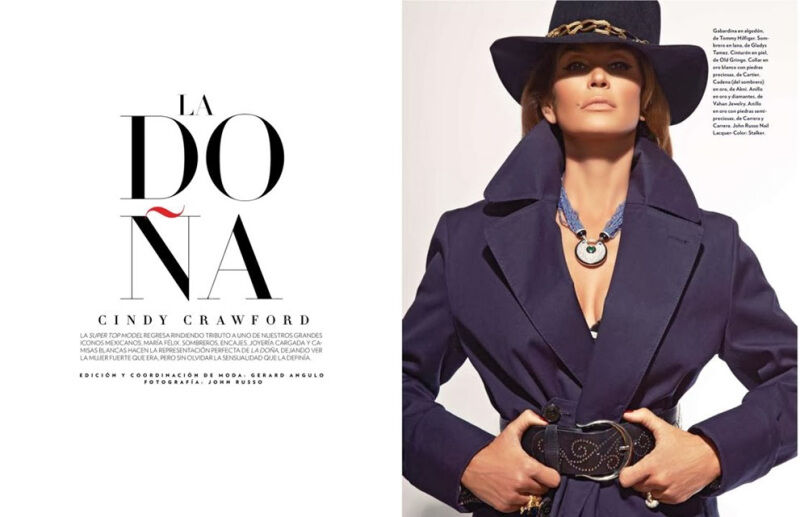 Синди Кроуфорд в журнале Marie Claire. Мексика. Декабрь 2013