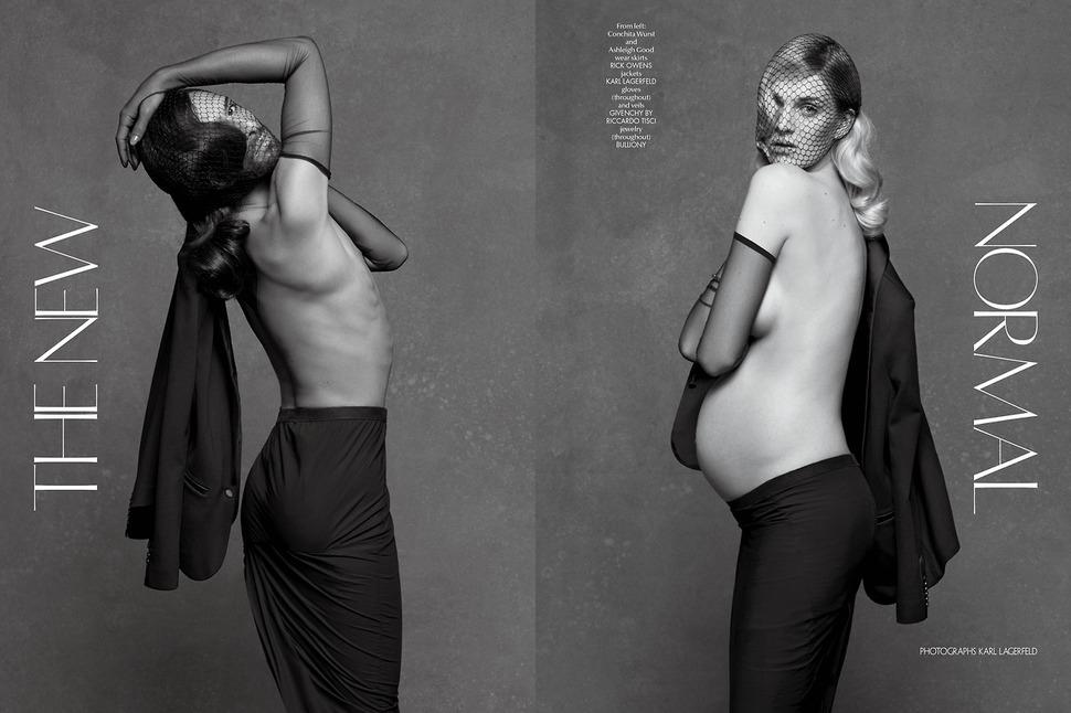 Кончита Вурст и беременная Эшли Гуд в журнале CR Fashion Book