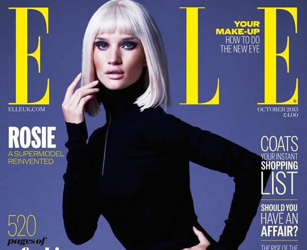 Роузи Хантингтон-Уайтли в журнале Elle Великобритания. Октябрь 2013