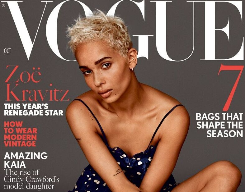 Зои Кравиц впервые снялась для обложки британского Vogue