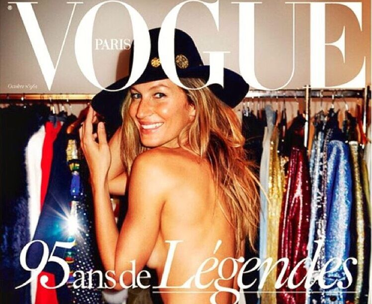 Жизель Бундхен снялась обнаженной для юбилейного номера Vogue