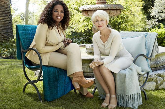 Хелен Миррен в журнале O, The Oprah Magazine. Август 2014