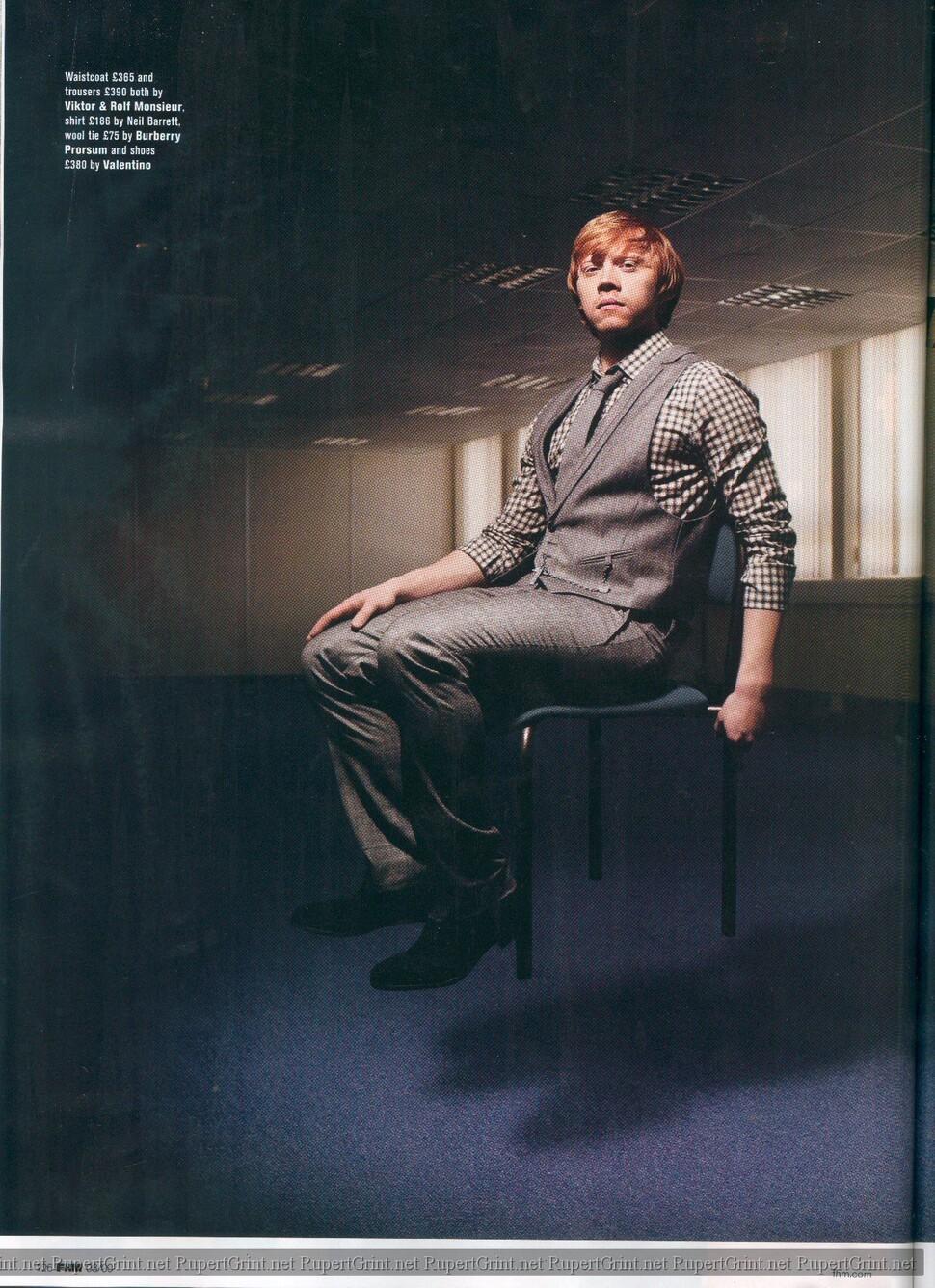 Руперт Гринт в журнале FHM. Август 2009