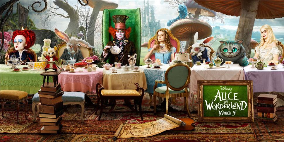 Характер-постеры к фильму «Алиса в стране чудес»