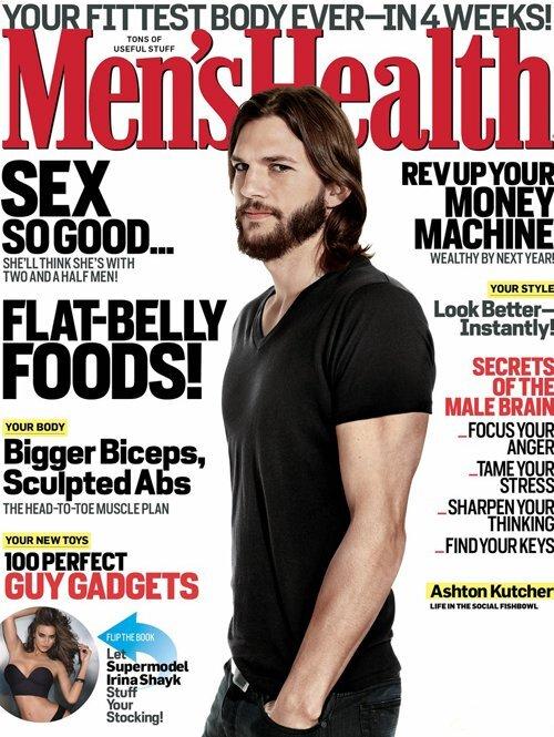 Эштон Кутчер в журнале Men's Health. Декабрь 2011