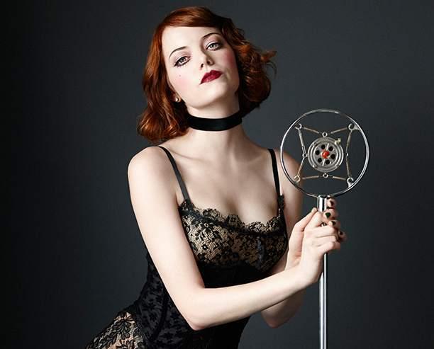Эмма Стоун в образе Салли Боулз из мюзикла «Кабаре»