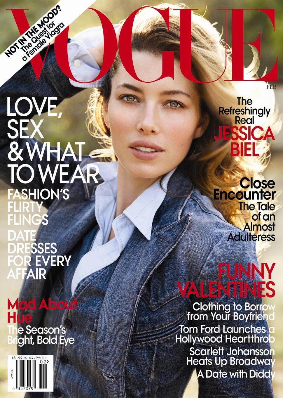 Джессика Бил в журнале Vogue. Февраль 2010