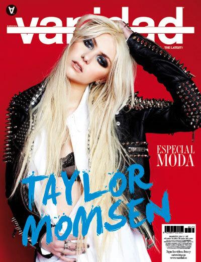 Тэйлор Момсен в журнале Vanidad
