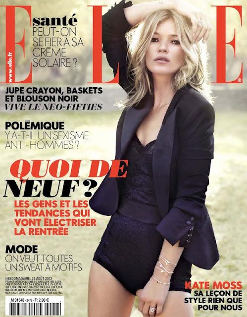 Кейт Мосс в журнале Elle Франция. Август 2012