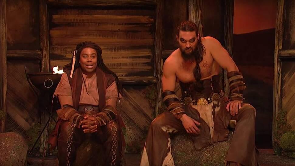 Джейсон Момоа вернулся к роли кхала Дрого для комедийного шоу SNL