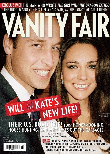 Принц Уильям и Кейт Миддлтон в журнале Vanity Fair. Июль 2011