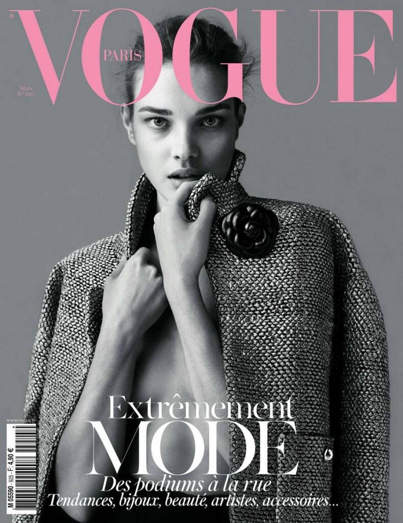 Наталья Водянова в журналах Vogue и Vogue Paris. Март 2012