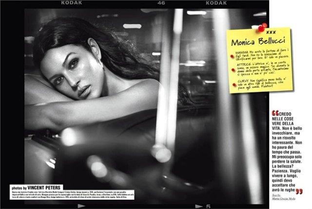 Моника Беллуччи для Vogue Italia. Фоторабота Винсента Петерса