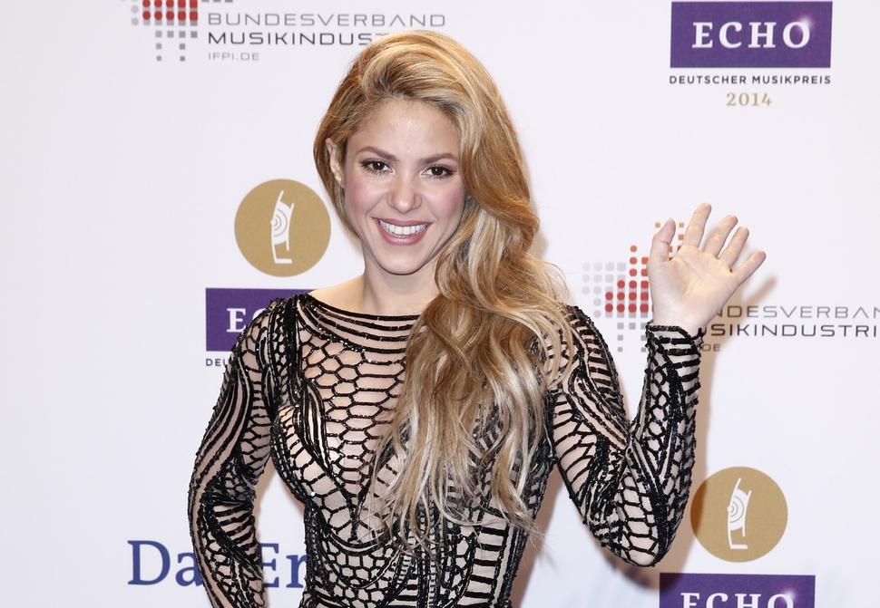 Шакира и Кайли Миноуг на Echo Awards