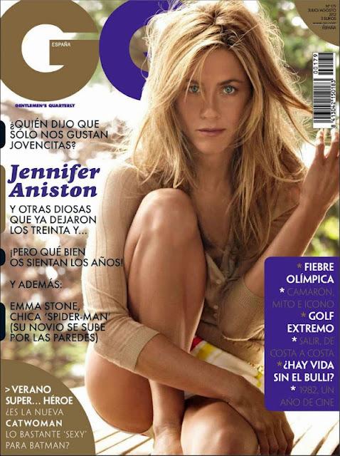 Дженнифер Энистон в журнале GQ Испания. Июль / август 2012