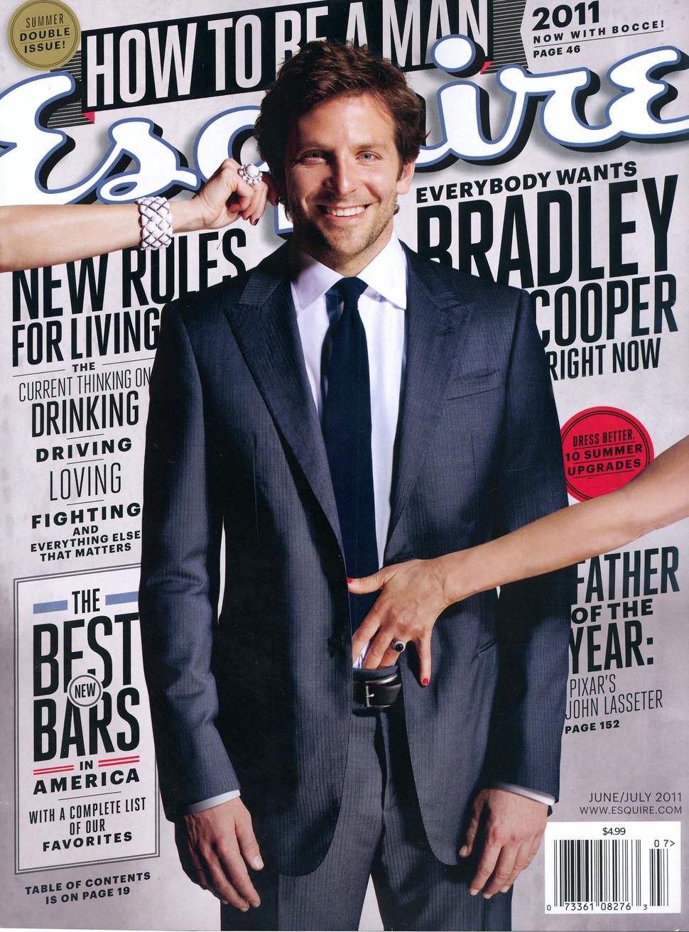 Брэдли Купер в журнале Esquire. Июнь-июль 2011