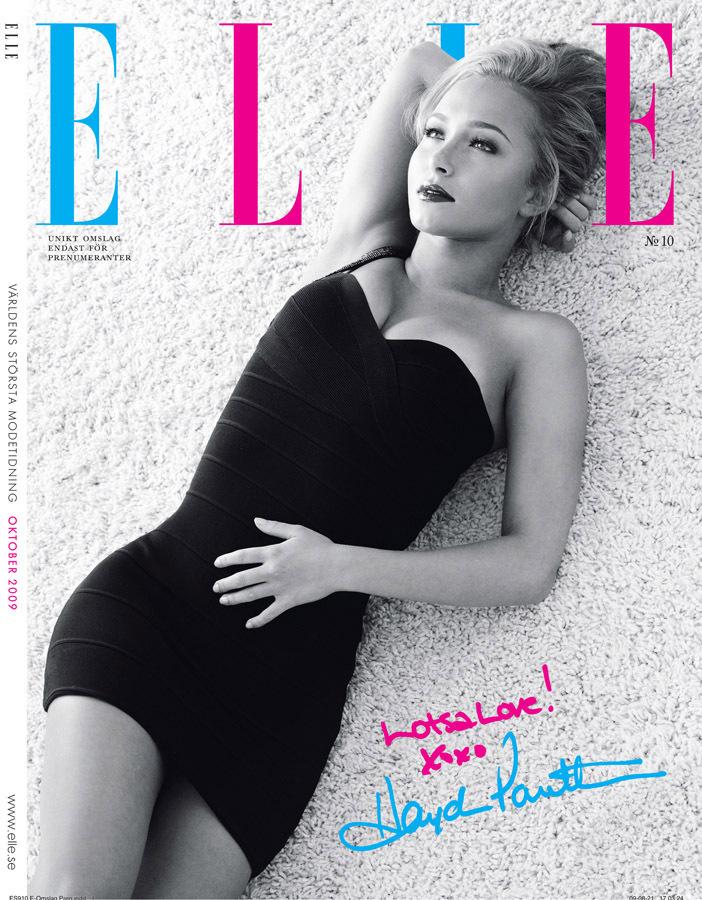 Хайден Панеттьери в журнале Elle. Швеция. Октябрь 2009