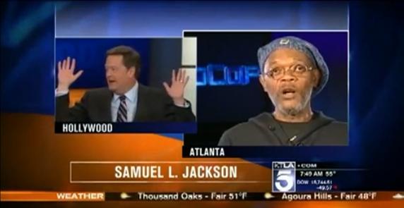 Сэмюэла Л. Джексона перепутали с Лоренсом Фишберном в прямом эфире