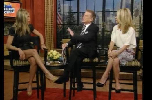 Дженнифер Энистон на шоу Regis and Kelly