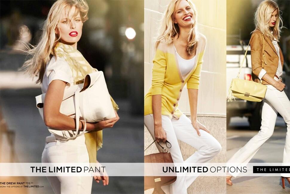 Каролина Куркова в рекламной кампании The Limited