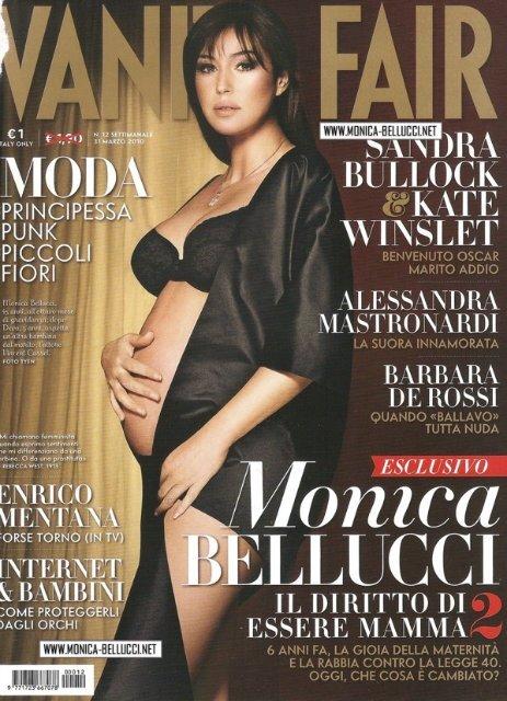 Беременная Моника Беллуччи в итальянском Vanity Fair