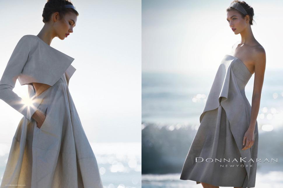 Карли Клосс в рекламных кампаниях Lacoste и Donna Karan. Весна / лето 2013