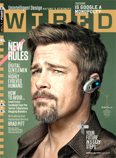Брэд Питт в журнале Wired. Август 2009