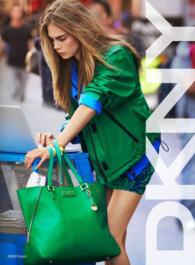 Кара Делевинь в рекламной кампании Весна 2013 DKNY