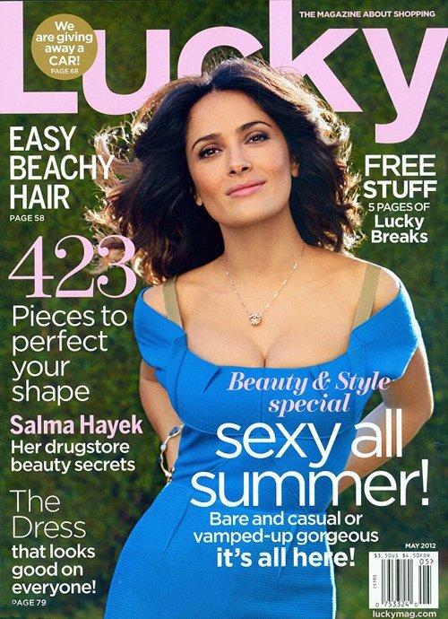 Сальма Хайек в журнале Lucky. Май 2012