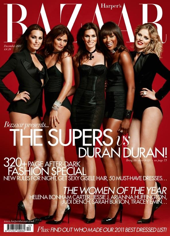Супермодели в журнале Harper's Bazaar U.K. Декабрь 2011