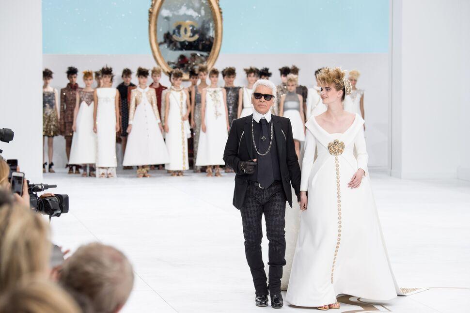 Модный показ новой коллекции Chanel Haute Couture. Осень / зима 2014-2015