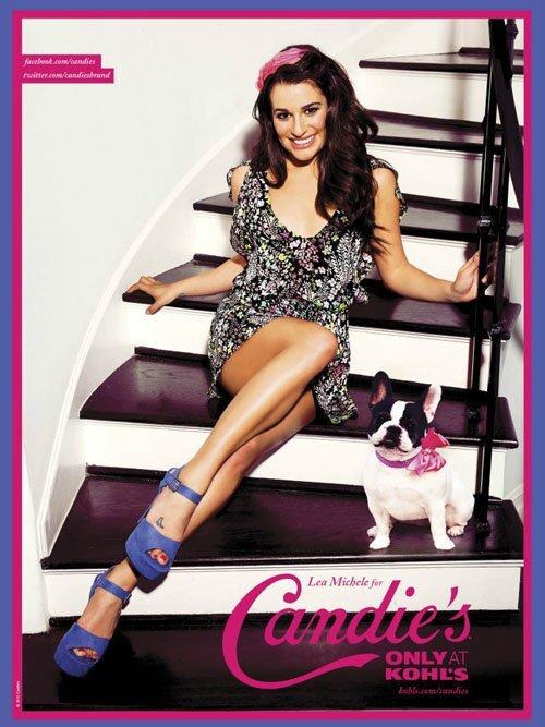 Лиа Мишель в рекламной кампании Candie's: первый взгляд