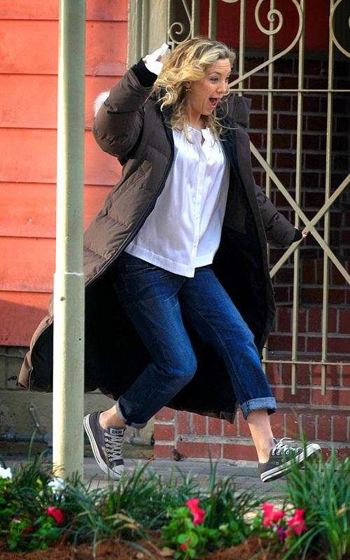 Кейт Хадсон на съемках нового фильма Earthbound